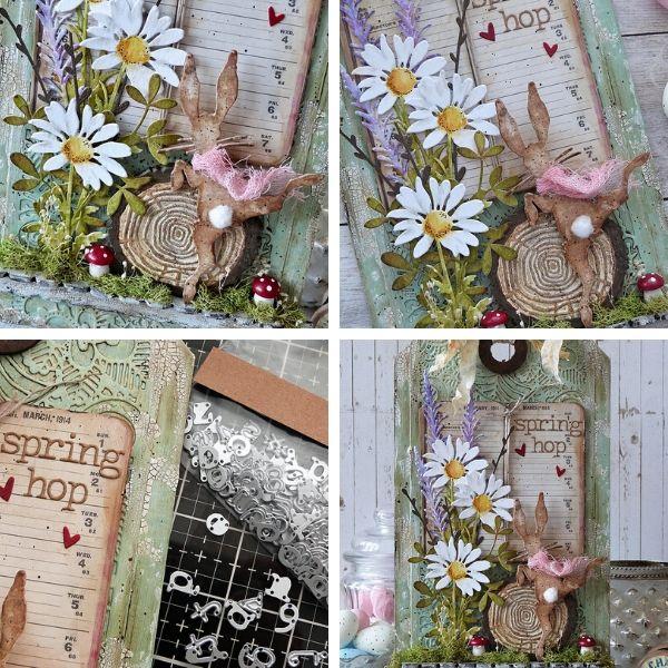 Spring Hop Home Decor Tag using Tim Holtz® designs! - by Emma Williams