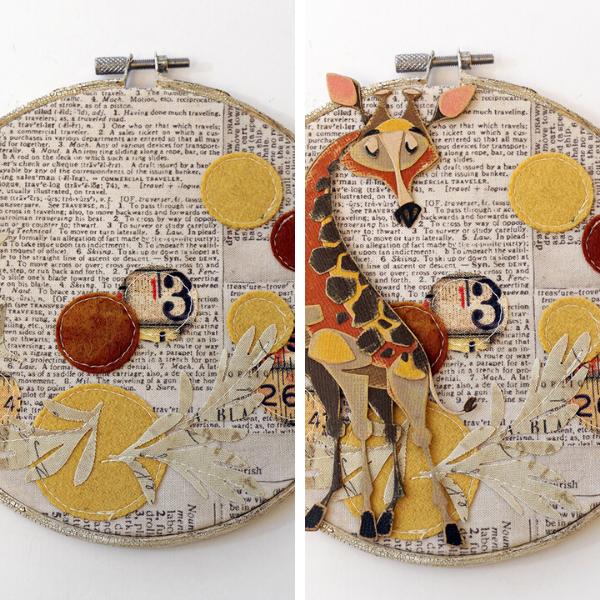Gertrude Embroidery Hoop by Jan Hobbins